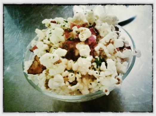 Cheddar, Bacon & Thyme Popcorn