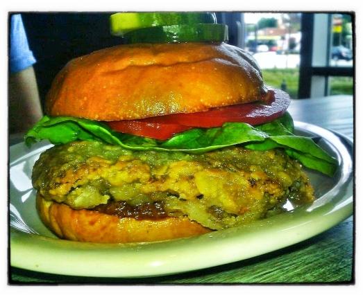 Watershed's Chicken fried steak sandwich & firecracker green beans