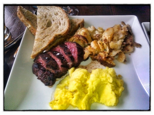 Steak and Eggs at H. Harper Station