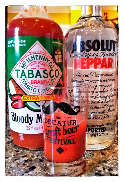 Tabasco brand Bloody Mary Mix + Absolut Peppar
